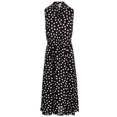 アンクライン ワンピース トップス レディース Floral-Print Sleeveless Dress Anne Black/Anne White