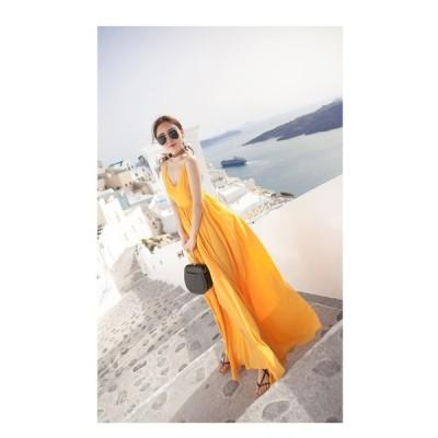 モルディブ ビーチスカート 新しい海辺の休日 ボヘミアン ロングスカート シフォンドレス OP-002KK