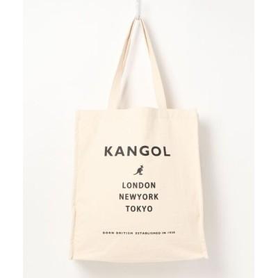 COLLARS / 【KANGOL / カンゴール】 マチ付きキャンバスプリントトートバッグ WOMEN バッグ > トートバッグ