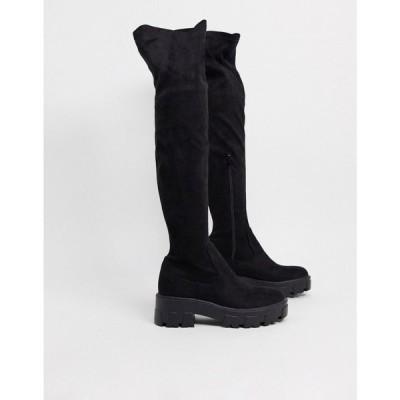 レイド Raid レディース ブーツ ニーハイブーツ ロングブーツ シューズ・靴 RAID Pierra chunky over the knee boots in black