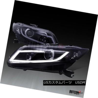 ヘッドライト 2012-2015 Honda Civic 2 / 4D LEDバープロジェクターヘッドライト光沢のあるピアノブラック For 2012