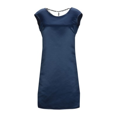 LANACAPRINA ミニワンピース&ドレス ダークブルー 40 ポリエステル 80% / コットン 20% ミニワンピース&ドレス