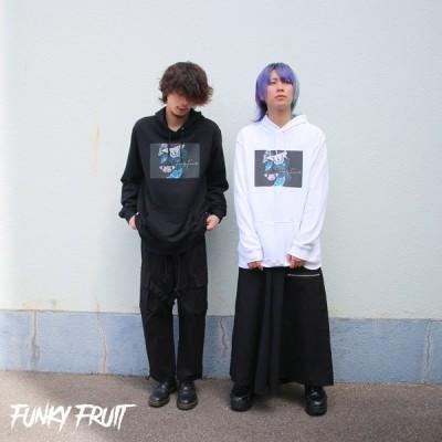 FUNKY FRUIT エフェクトバタフライプリントビッグパーカー/メール便不可/mlh00216-5/113