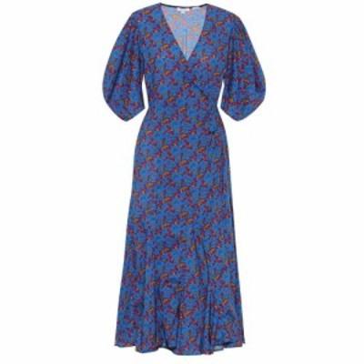 ロードリゾート RHODE レディース ワンピース ラップドレス ワンピース・ドレス Fiona floral cotton wrap dress Blue Blossom