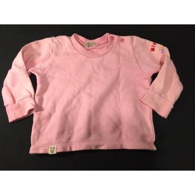 ミキハウス(MIKI HOUSE) スウェット  トレーナー・女の子・80サイズ  (ピンク) やや美品 中古/送料198円§h//