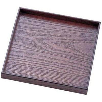 丸十 木製 宴 角皿 目摺り 6.0 <PUT0602>