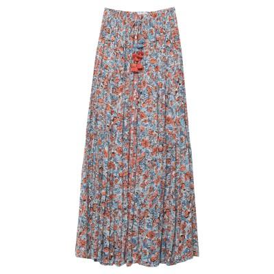 POUPETTE ST BARTH ロングスカート スカイブルー S レーヨン 100% ロングスカート
