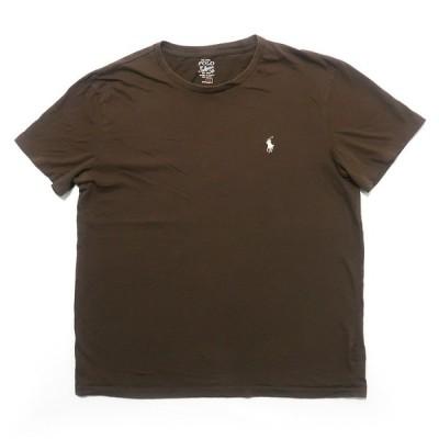 古着 ポロラルフローレン ワンポイント ロゴ Tシャツ ブラウン サイズ表記:M