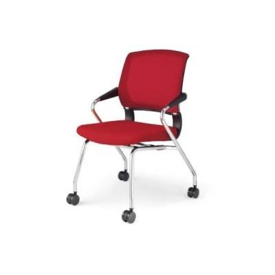コクヨ チェア 会議椅子 サテリテ 肘付 メッキ脚 4本脚キャスター CK-M791C