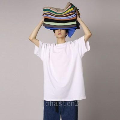 Tシャツ 半袖 メンズ ゆったり new 無地 ビッグ カットソー 夏 男性 クルーネック 夏Tシャツ 丸首 半袖Tシャツ 大きいサイズ シンプル 送料無料
