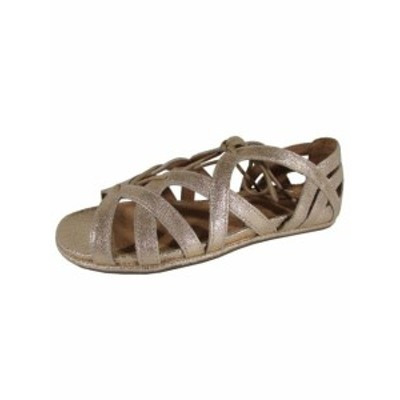 Gentle Souls ジェントルソウルズ ファッション サンダル Gentle Souls Womens Orly Leather Ghillie Flat Sandal Shoes Rose Gold US 6