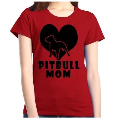 レディース 衣類 トップス Shop4Ever Women's Pitbull Mom Graphic T-Shirt グラフィックティー