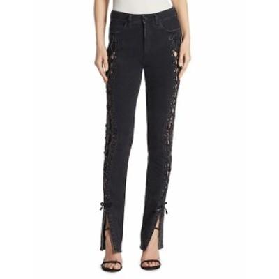 ジョナサンシンカイ レディース パンツ デニム Lace-Up Slit Stovepipe Jeans