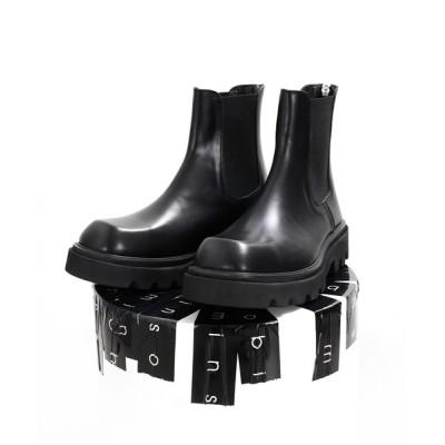 minsobi / 【minsobi】高級本革 厚底チェルシーブーツ MEN シューズ > ブーツ