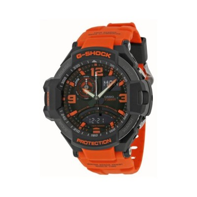 カシオ G Shock アヴィアtion ブラック and オレンジ ダイヤル オレンジ レジン メンズ 腕時計 GA1000-4ACR