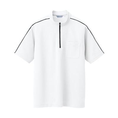 半袖クイックドライジップシャツ(男女兼用) カラー:024ホワイト サイズ:S