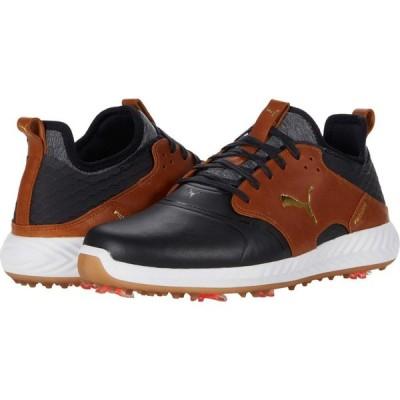プーマ PUMA Golf メンズ シューズ・靴 Ignite Pwradapt Caged Crafted Puma Black/Leather Brown/Puma Team Gold