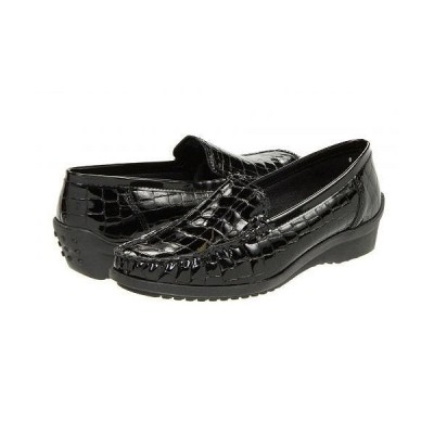ara アラ レディース 女性用 シューズ 靴 ローファー ボートシューズ Phoebe - Black Croco Patent