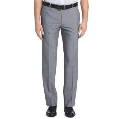 ヴァンハウセン カジュアルパンツ ボトムス メンズ Men's Flex Straight-Fit Dress Pants Silver Grey