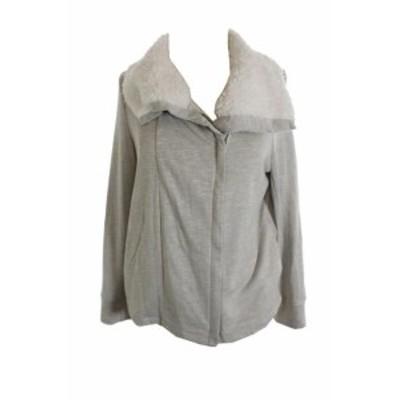 ファッション 衣類 Inc International Concepts Gray Zip pailettenherz Moto Jacket L