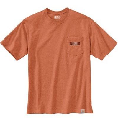 (取寄)カーハート メンズ ルーズ フィット ヘビーウェイト ショートスリーブ ポケット カーハート シー グラフィック Tシャツ Carhartt M