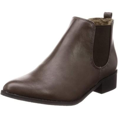 [ミオノティス] ブーツ 内ボアサイドゴアブーツ レディース 333B グレー 23 cm 2E