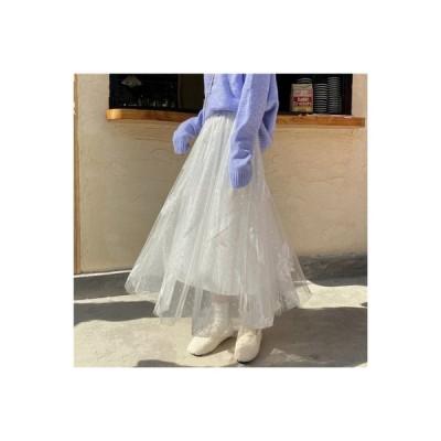 【送料無料】レディース 秋冬 年 韓国風 ファッション 白い网? スカート 西洋風 フェ | 364331_A63678-4014484