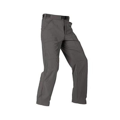 FREE SOLDIER メンズ アウトドア カーゴ ハイキングパンツ 軽量 防水 速乾 タクティカルパンツ ナイロン スパンデックス グレー 36W