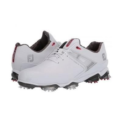 FootJoy フットジョイ メンズ 男性用 シューズ 靴 スニーカー 運動靴 Tour X - White/Red Trim