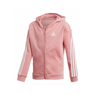 アディダス キッズ スポーツ用品 3-STRIPES FULL-ZIP HOODIE - Zip-up hoodie - pink