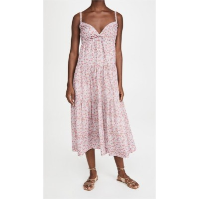 レベッカ テイラー La Vie Rebecca Taylor レディース ワンピース ノースリーブ ワンピース・ドレス Sleeveless Eva Floral Dress Blue Haze Combo