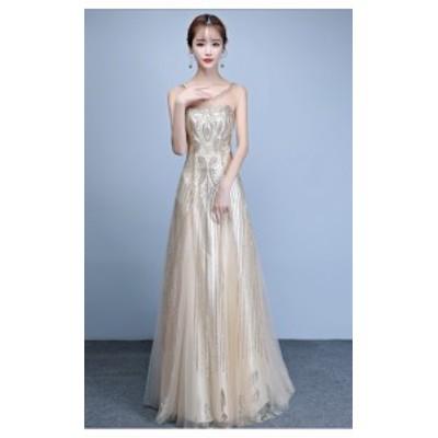 演奏會 お呼ばれドレス 結婚式ドレス 上品さロングドレス パーティードレス 発表會 二次會 忘年會  ウエディングドレス
