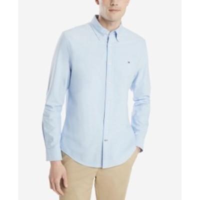 トミー ヒルフィガー メンズ シャツ トップス Men's Custom Fit New England Solid Oxford Shirt Collection Blue