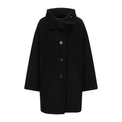 VANESSA BRUNO コート ブラック 34 ウール 90% / カシミヤ 10% コート