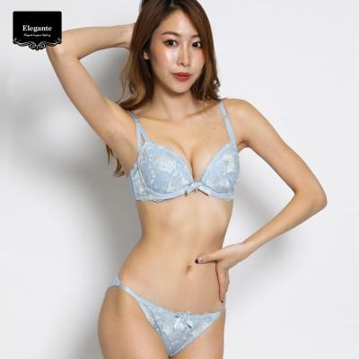 大花刺繍ブラ&ショーツセット(エレガンテ/Elegante)