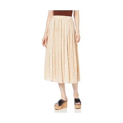 ウィゴー WEGO パターン プリント ロング スカート FREE フリーサイズ ベージュ レディース
