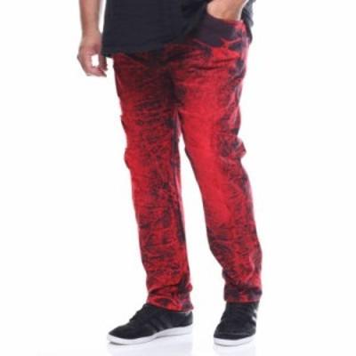 バイヤーズピック ジーンズ・デニム rip/repair jeans (b&t) Red