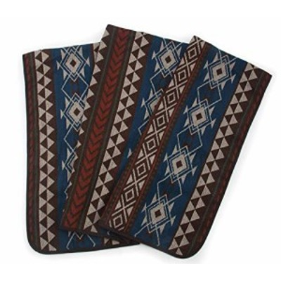 RuthBoaz Outdoor Wool Blend Blanket Ethnic Inka PatternK Blue Normal