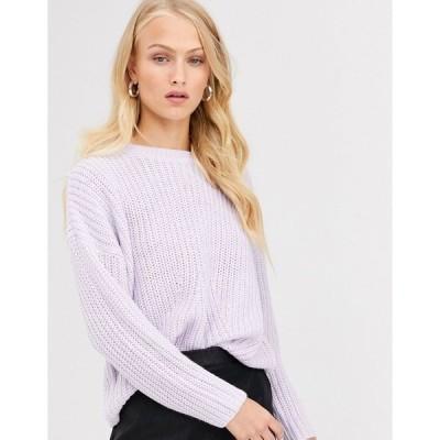 オンリー レディース ニット&セーター アウター Only rib knitted sweater Lilac