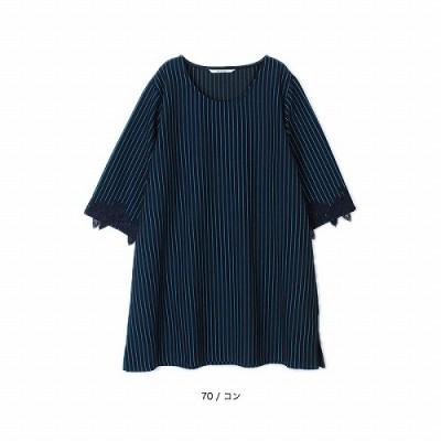 ポンチストライプチュニック【LL―5L】(エムビー/MB)
