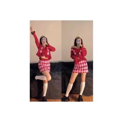 【送料無料】~ クリスマス スカート キルト 菌類トップ スカート セット   346770_A64440-8077428