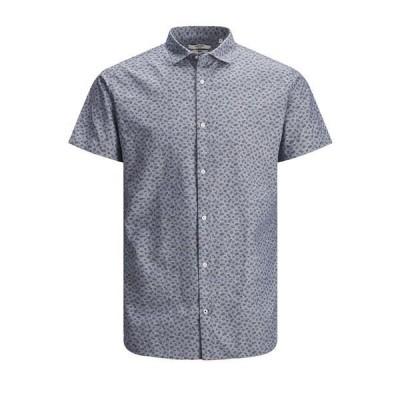 ジャック アンド ジョーンズ シャツ トップス メンズ Men's Blackpool Short Sleeve Shirt Faded Denim