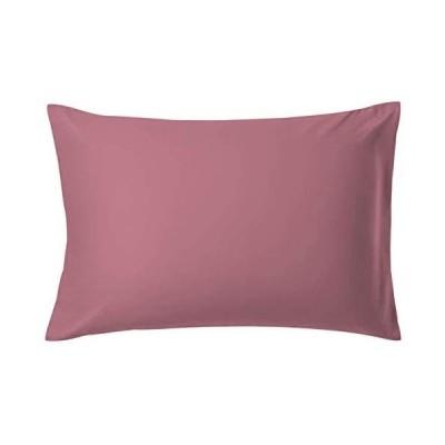 AYO 枕カバー 高級棉100% 全サイズピローケース ホテル品質 サテン織 300本高密度(豆赤  43*63cm)