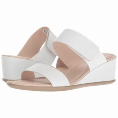 エコー サンダル・ミュール Shape 35 Wedge 2-Strap Bright White Calf Leather