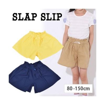 【 SLAP SLIP / スラップスリップ 】 タイプライター リボン付 キュロット パンツ 子供服 BeBe ベベ BUZZFUZZ バズファズ アウトレット 女の子