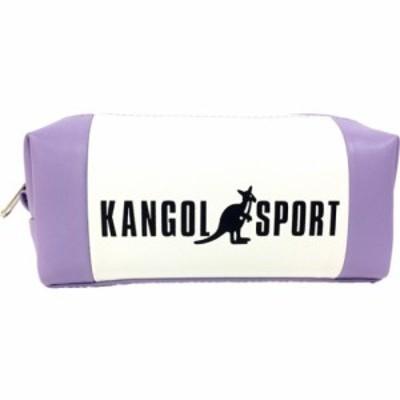 KANGOL SPORT コスメポーチ パステルトリコ 長角 ポーチ パープル カンゴール 小物入れ ファッション グッズ