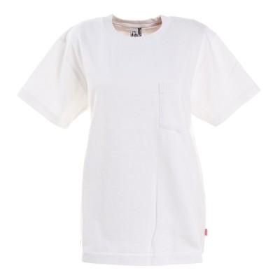 チャムスヘビーウェイトポケットTシャツ CH11-1665-W001 アウトドア カジュアル ゆったり コットンホワイトM