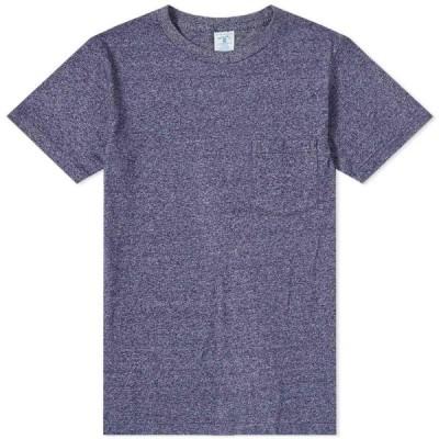 ベルバシーン Velva Sheen メンズ Tシャツ ポケット トップス Twist Pocket Tee Heather Navy