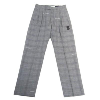 【11月5日値下】OFF-WHITE Houndstooth Tailoerd Trouser Pants トラウザーパンツ グレー サイズ:46 (