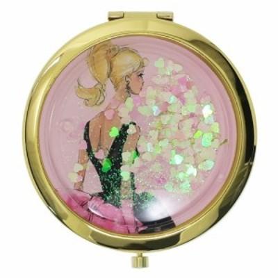 バービー 手鏡 コンパクトミラー ハート&ラメPK Barbie ギフト雑貨 キャラクター グッズ メール便可
